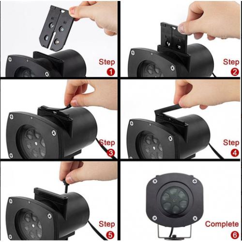 Vianočný LED laser projektor IQ-L 30 MULTI GOBO