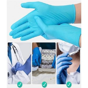 Medical jednorazové PVC rukavice zo syntetizovanej nitrilonového kaučuku nepúdrované, veľkosť L