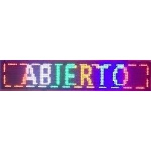 LED reklamní a textové displeje IQ-LP s WIFI pripojením farba textu RGB (farebné pásy)